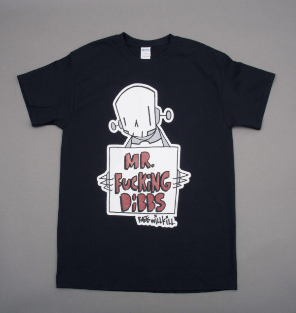 Robots Will Kill / Mr. Dibbs Collab Shirt in Black